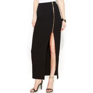 NWT Vince Camuto Side-Slit Zip Maxi Skirt